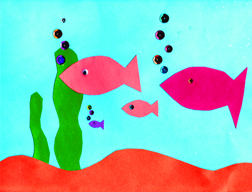 construction paper aquarium craft