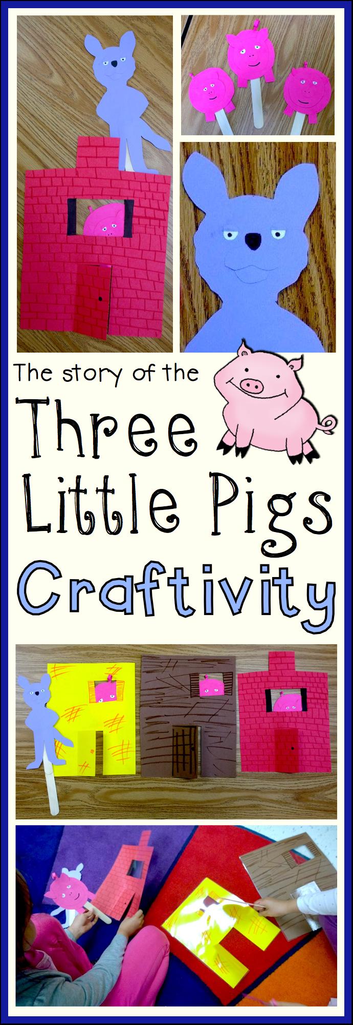 three little pigs retelling pieces craft